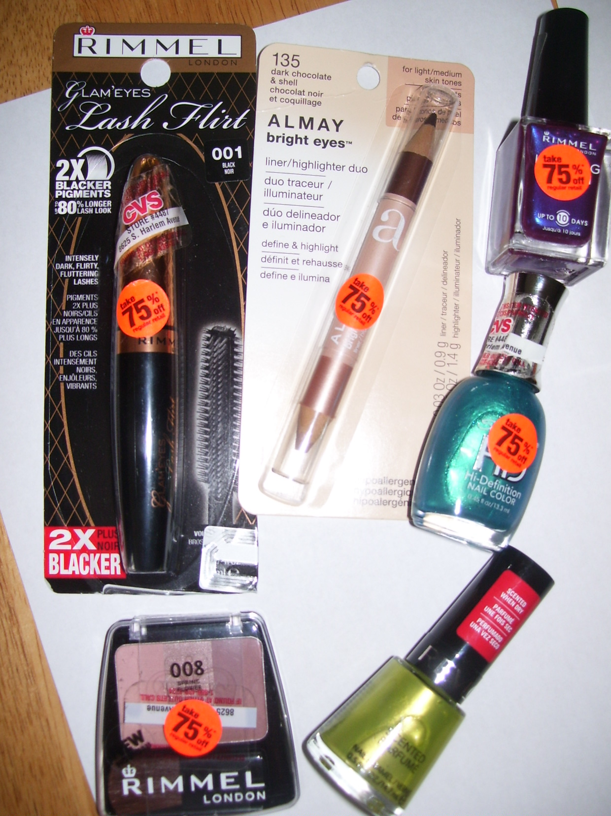 What I scored from the CVS beauty clearance…