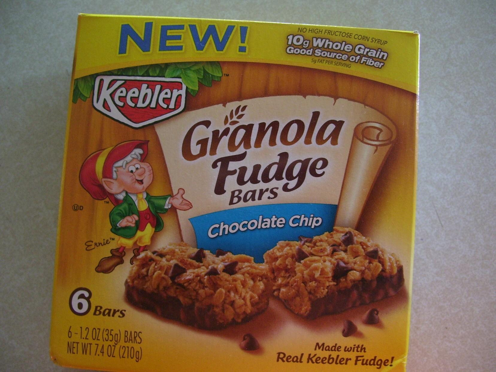 Snack Break:  Keebler Granola Fudge Bars