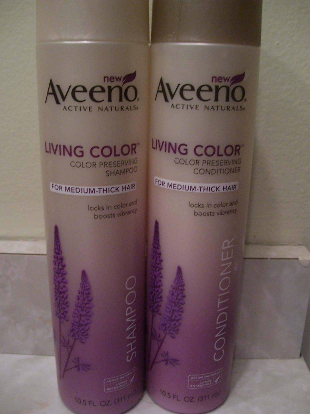 Aveeno Active Naturals Living Color – Color Preserving Shampoo & Conditioner