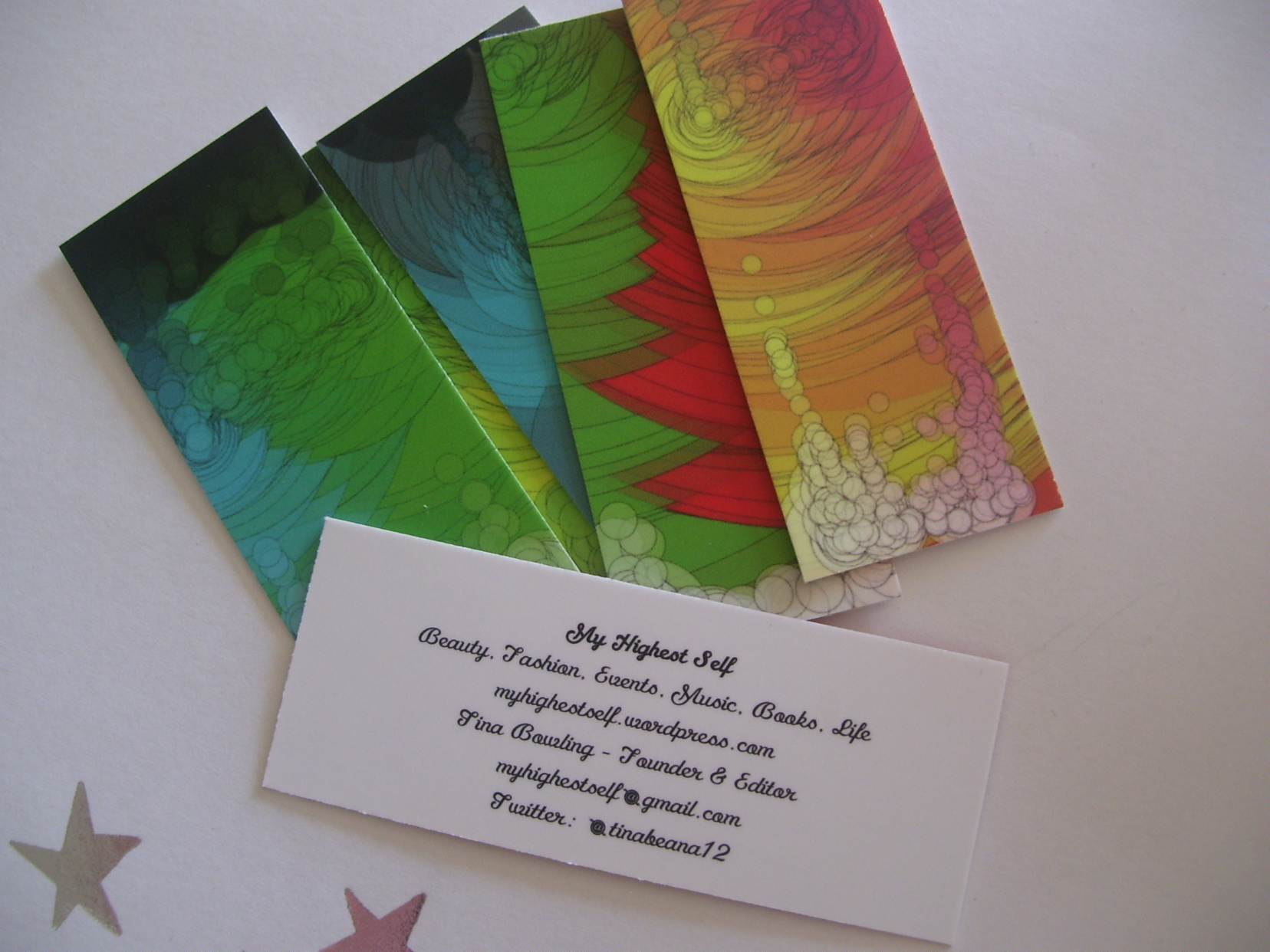My Brand New Blog Business Cards from MOO.COM