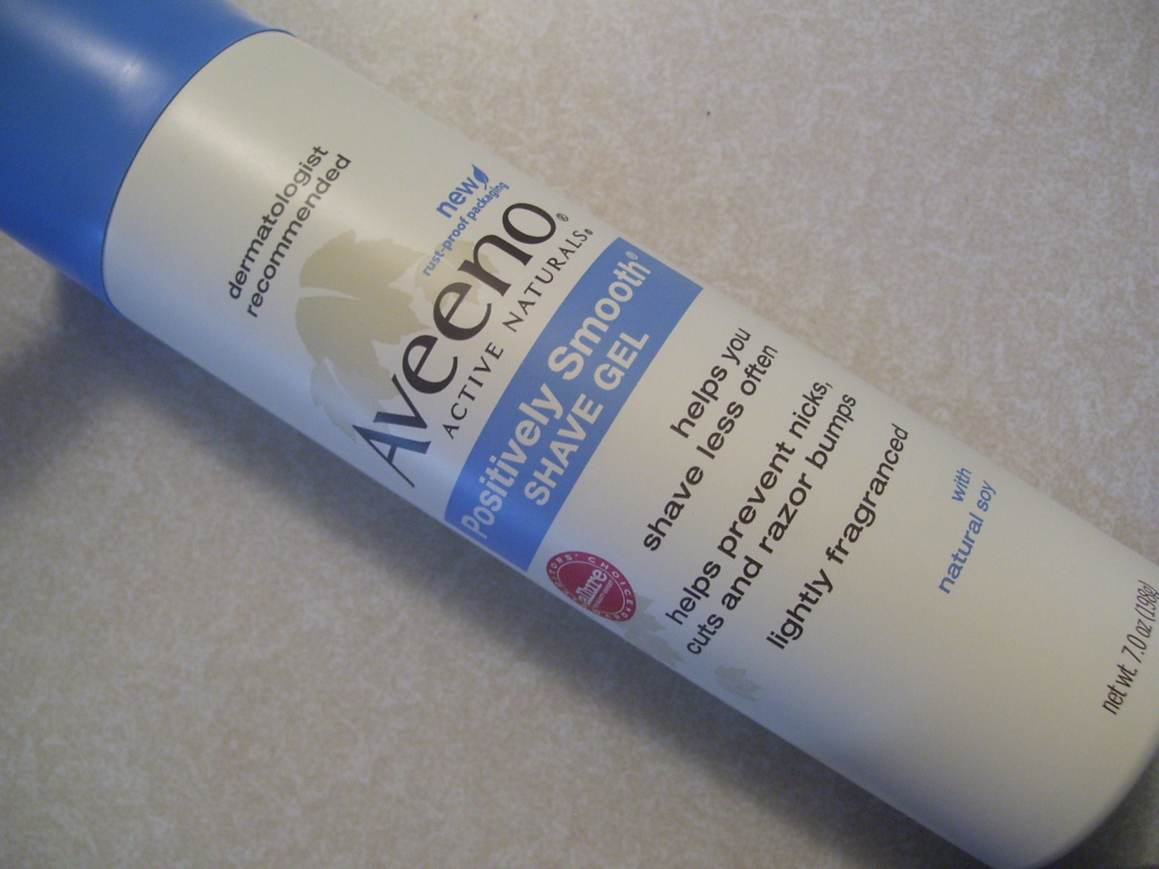 Review:  Aveeno Active Naturals Positively Smooth Shave Gel
