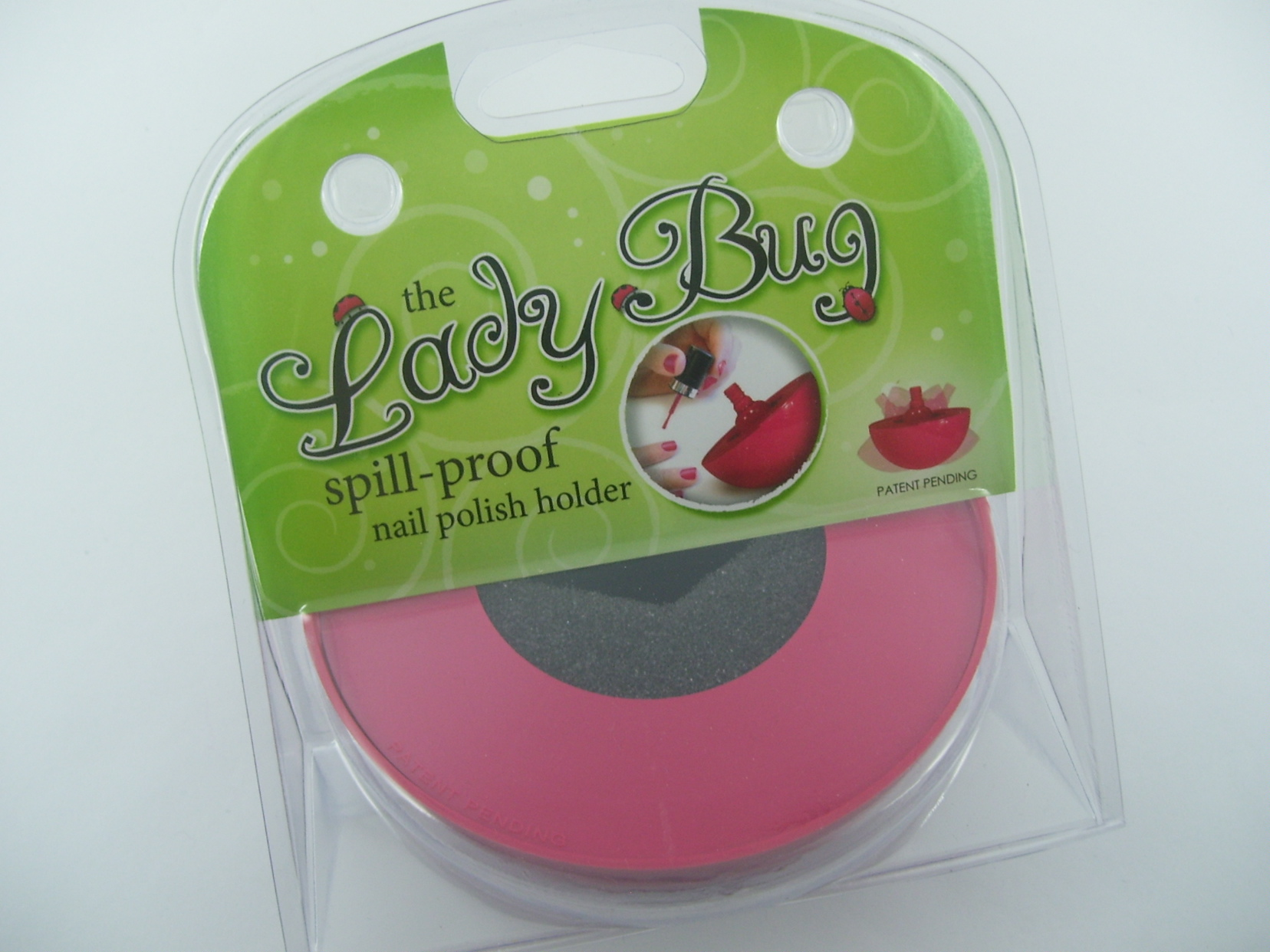 The LadyBug Nail Polish Holder is Cute as Can Be