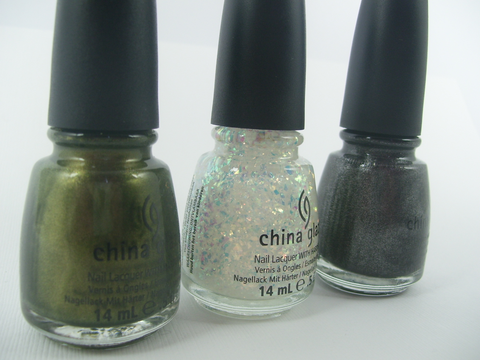 Three Shades from the China Glaze Capitol Colours Collection