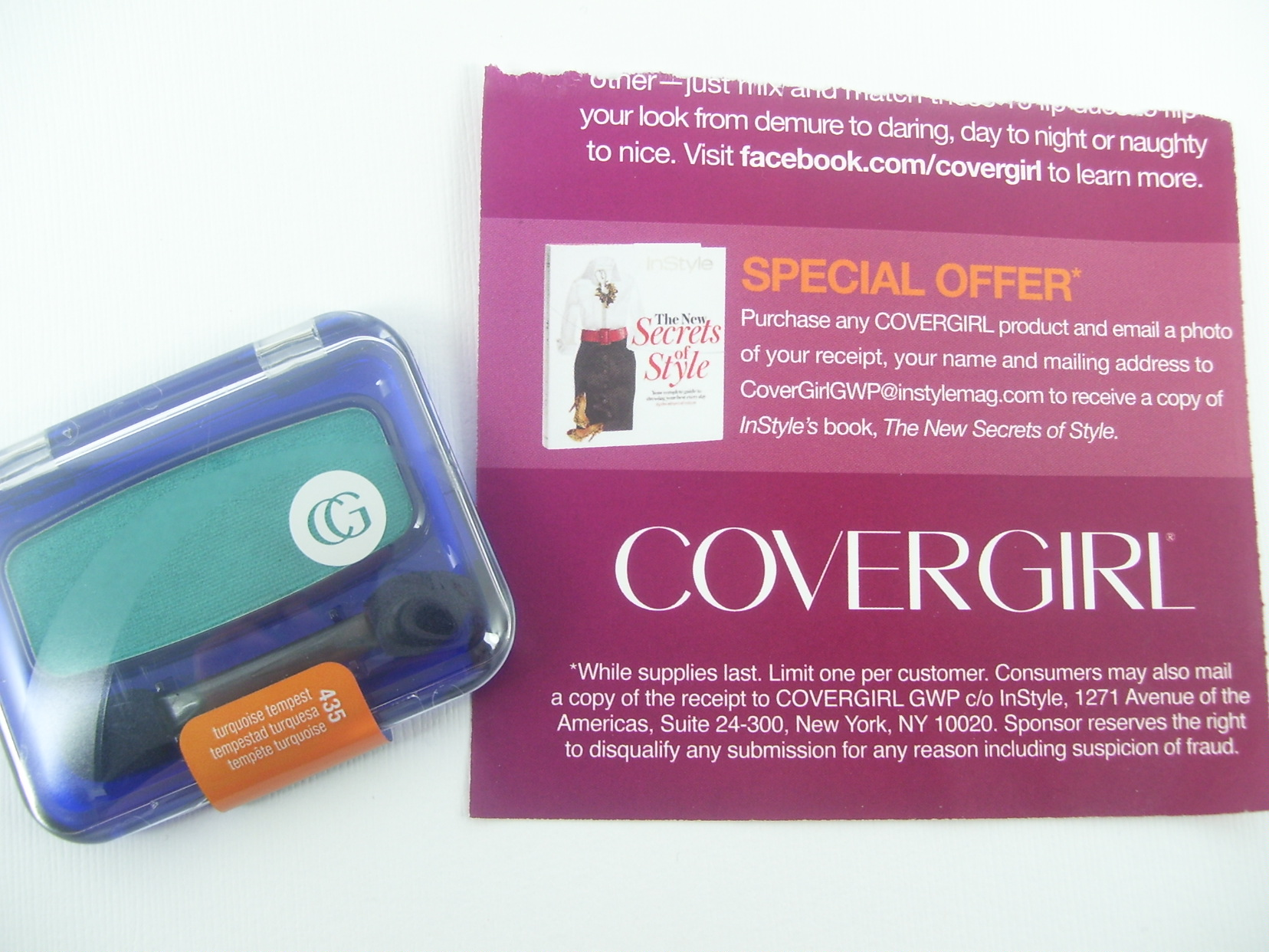 Special Offer from COVERGIRL and InStyle Magazine