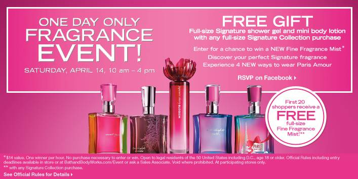 Bath & Body Works Spring Fragrance Event – April 14, 2012